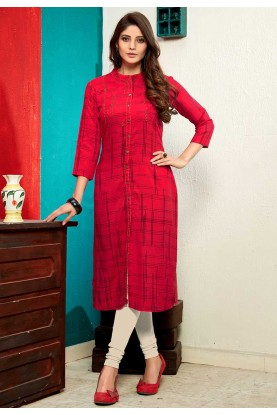 Buy kurtis online india in Red colour