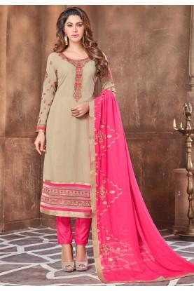 Beige Colour Designer Salwar Suit.