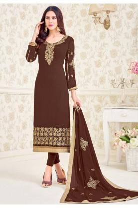 Brown Colour Designer Salwar Kameez.