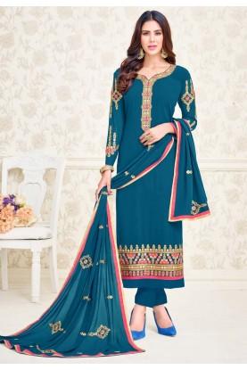 Buy Latest Indian salwar kameez in blue colour online