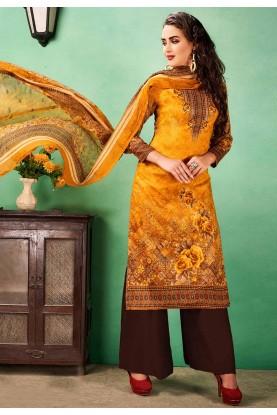 Buy salwar kameez online in orange colour