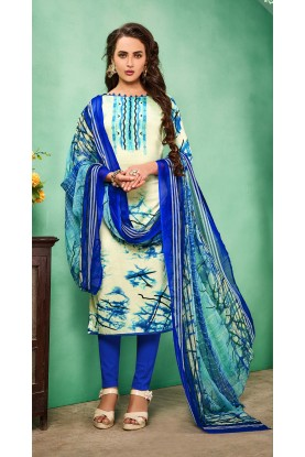 Buy Cream Colour Printed Salwar Kameez