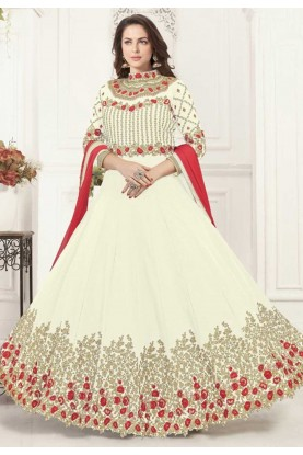 Cream Colour Bollywood Salwar Kameez Online