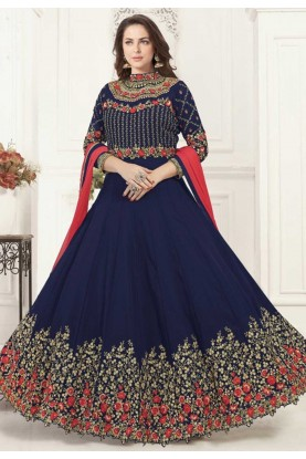 Blue Colour Party Wear Bollywood Salwar Kameez Online