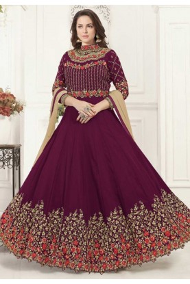 Wine Colour Bollywood Salwar Kameez Online
