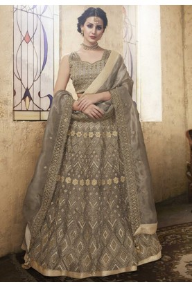 Brown colour designer Lehenga choli online