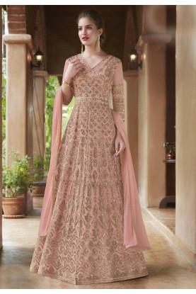 Buy Anarkali Salwar Suit Online with Pink Colour