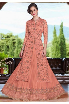 Orange Colour Lehenga choli for bridesmaid