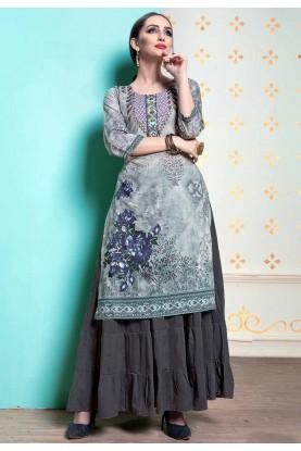 Grey Colour Readymade Designer kurtis online