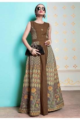 Brown Colour Stylish Designer Kurti.