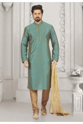 Green Colour Kurta Pajama.