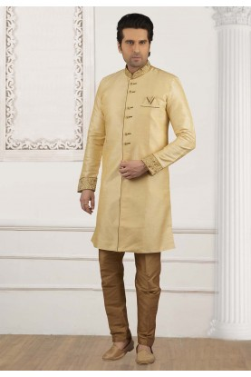 Golden Colour Readymade Kurta Pyjama.