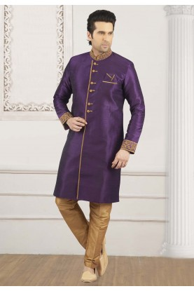 Purple Colour Kurta Pajama.