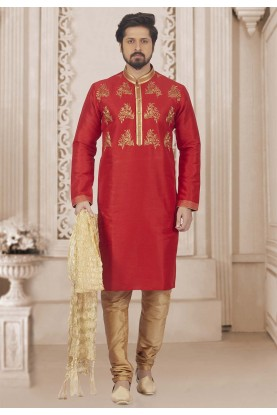 Red Colour Indian Kurta Pajama.