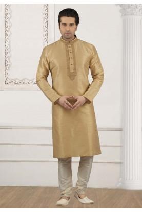 Beige Colour Designer Kurta Pajama.