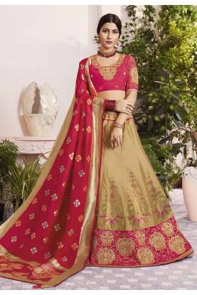 Golden Colour Designer Lehenga Choli.