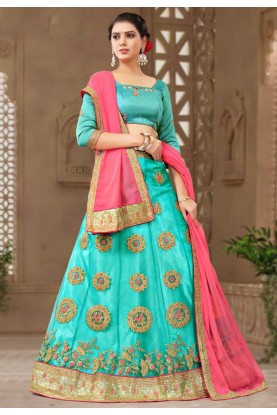 Turquoise Colour Bridesmaid lehenga online