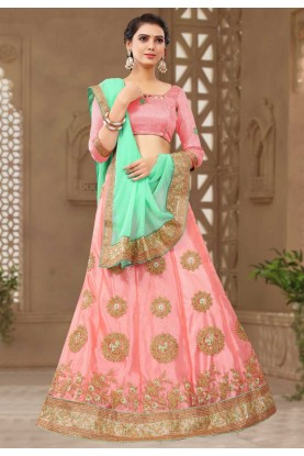 Pink Colour Bridesmaid lehenga online