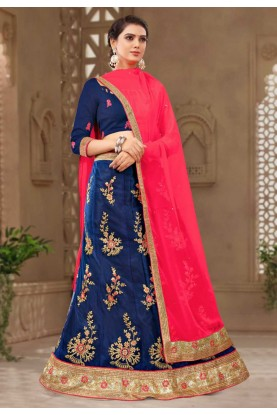 Blue Colour Party Wear Lehenga choli for bridesmaid
