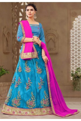 Buy Blue Colour Lehenga choli for bridesmaid