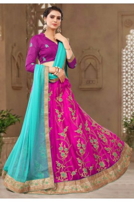 Magenta Colour Lehenga choli for bridesmaid