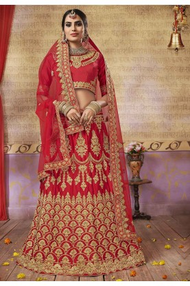 Red Colour Wedding Designer Lehenga.