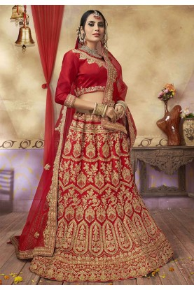 Red Colour Lehenga Choli.