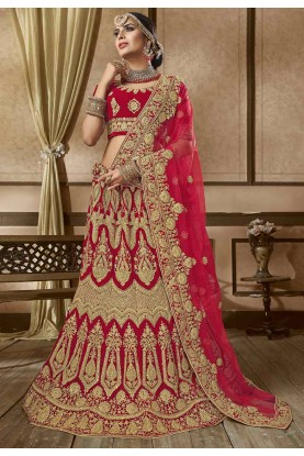 Red Colour Designer Lehenga.