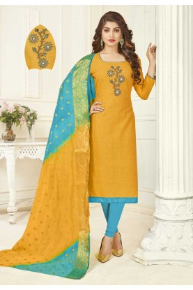 Buy Yellow Colour Indian Salwar Kameez Online