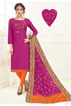 Magenta Colour Indian Salwar Kameez Online
