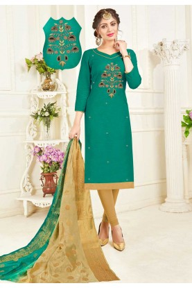 Buy Green Colour Indian Salwar Suit