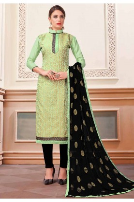 Buy Green Colour Printed Salwar Kameez