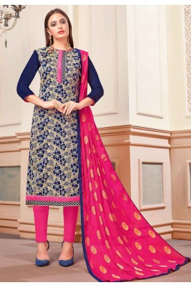 Blue Colour Printed Salwar Kameez