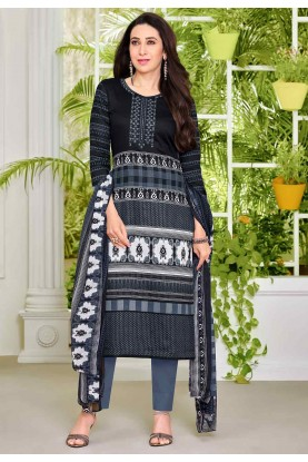 Black Colour wear Casual Salwar Kameez Online