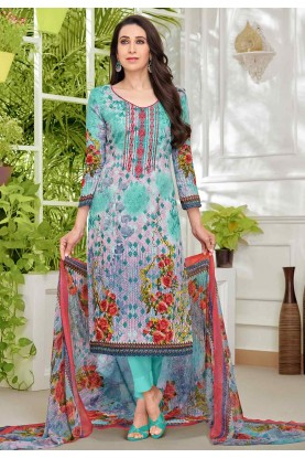 Multi Colour Casual Wear Salwar Kameez