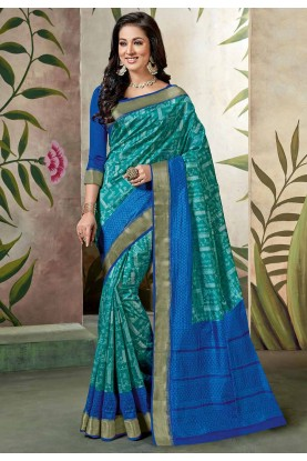 Blue Colour Saree.