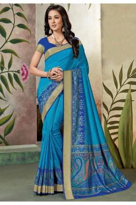Blue Colour Silk Saree.