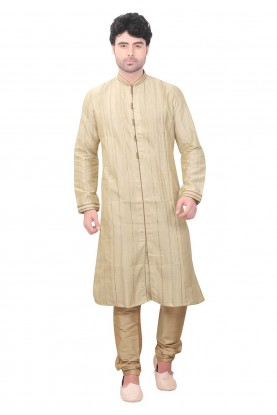 Cream Colour Designer Kurta Pajama.