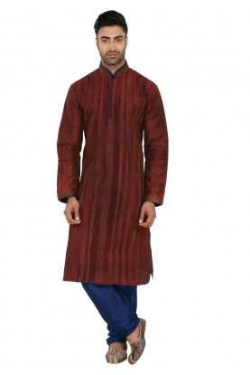 Maroon Colour Readymade Kurta Pajama.