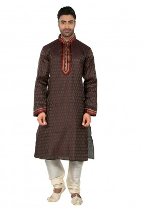 Brown Colour Kurta Pajama.