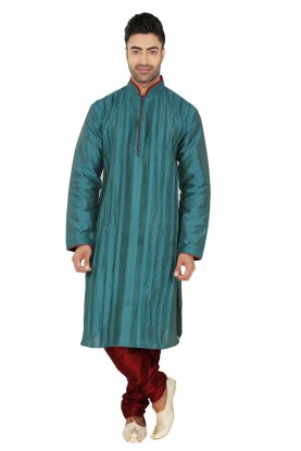 Green Colour Readymade Kurta Pyjama.