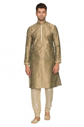 Golden Colour Kurta Pajama.