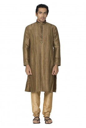 Brown Colour Readymade Kurta Pajama.