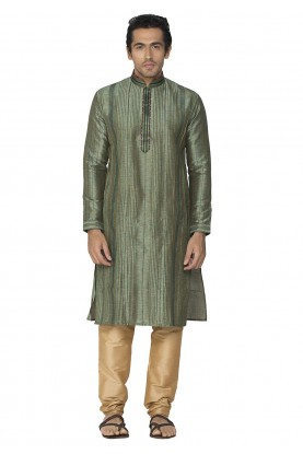 Green Colour Kurta Pyjama.