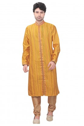 Yellow Colour Kurta Pajama.