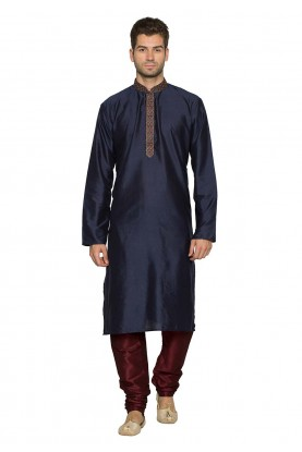 Blue Colour Party Wear Kurta Pyjama.