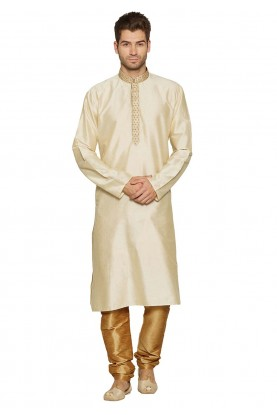 Cream Colour Designer Kurta.