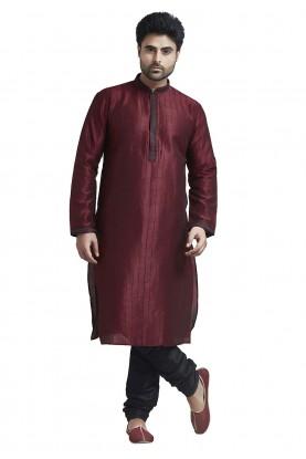 Maroon Colour Silk Kurta.