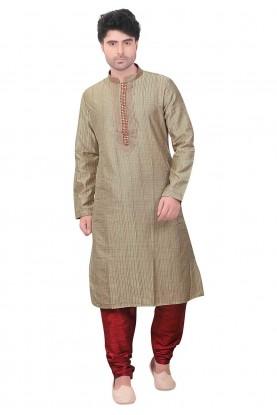 Readymade: Buy Kurta Pajama Online in Beige Colour