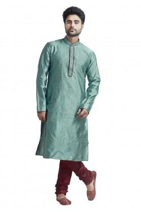 Buy Designer Kurta Pajama Online in Blue Colour